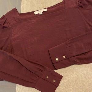 LOFT Square Neck Textured Blouse - Large
